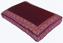 Meditation Bench Cushion - Magenta Indochine Polished-Cotton Print