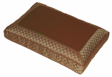 Meditation Bench Cushion - Gold/Brown Jewel Brocade