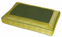 Meditation Bench Cushion - Olive Jewel Brocade