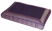 Meditation Bench Cushion - Purple Jewel Brocade