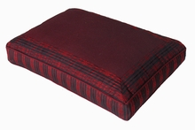 Meditation Bench Cushion - Burgundy Global Weave
