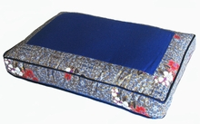Meditation Bench Cushion - Blue Indochine Print