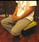 Meditation Low Rise or Sitting Cushion - Silk-Blend Fabrics