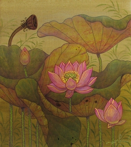 Lotus Garden - Original Acrylic Paintings