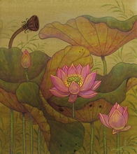 Lotus Garden I - Signed Original Painting - SOLD