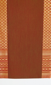 Table Runner - Classic Brocade Thai Silk-Blend - Saffron