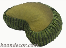 Crescent Zafu Meditation Cushion - Global Weave - Olive Green