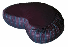 Crescent Zafu  Meditation Cushion - Global Weave - Burgundy/Charcoal