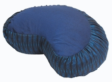 Crescent Zafu Meditation Cushion -  Global Weave - Blue