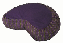 Crescent Zafu Meditation Cushion - Purple