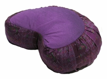 Crescent Zafu Meditation Cushion -  Global Ikat - Purple