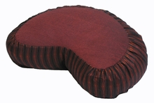Crescent Zafu Meditation Cushion - Global Weave - Rust Brown