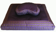 Crescent Zafu & Zabuton Meditation Cushion Set - Purple Global Weave