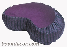 Crescent Zafu Meditation Pillow - Global Weave - Purple
