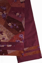 "Japanese ""Obi"" Silk Table Runner or Wall Hanging, Reversible - Mauve"