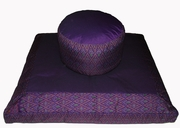 "Meditation Cushion ""High Seat"" Zafu - Global Weave & Ikat Print Fabrics"