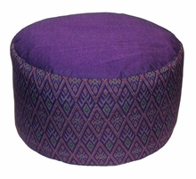 High Seat Zafu Meditation Cushion - Global Ikat - Purple