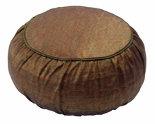 Zafu Meditation Cushion - Round Rain Silk - Copper