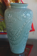 Back View of Dragon Vase