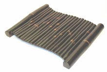 Bamboo Tray - Brown Wave