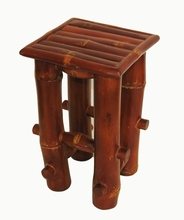 Bamboo Pedestal Display Stand