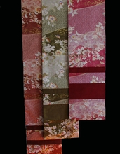 Table Runner Or Wall Hanging - Reversible Japanese Silk Kimono Prints