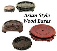 Asian Style Wood Display Bases