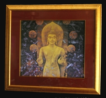"Framed ""Middle Way"" Buddha Print"