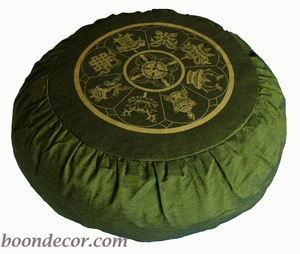 Round Zafu Meditation Cushion - Olive