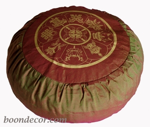 Round Zafu Meditation Cushion - Saffron