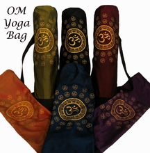 Yoga Mat Bag - Om Universe & Om w/Golden Lotus - Silk-Blend Fabrics