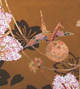 Wall Hanging - Antique Silk Japanese Kimono Artist Proof