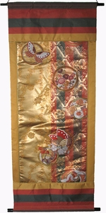 Wall Hanging - Vintage Silk Brocade Japanese Obi