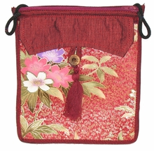 Flat Shoulder Bag - Red
