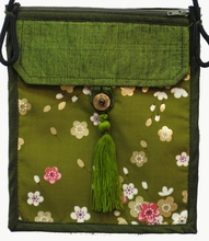 Flat Shoulder Handbag - Green