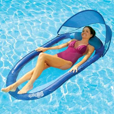 Spring Float with Canopy Pool Lounger