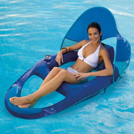Spring Float Recliner with Canopy