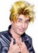 Men's Brown & Gold Punk Wig
