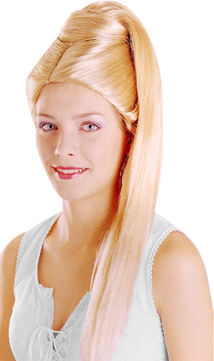 Adult Light Blonde Beehive Wig