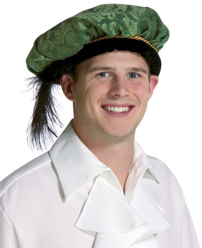 Adult Green Feathered Prince Hat