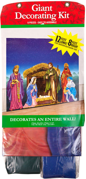 Giant Nativity Scene Wall Decorating Kit