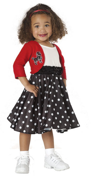 Toddler Polka Dot 50's Dance Costume