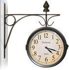 Antique Style Outdoor Clock & Thermometer