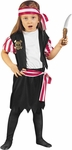 Toddler Carribean Pirate Girl Costume