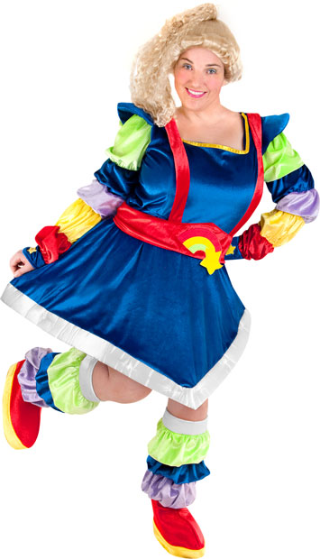 Plus Size Magic Rainbow Diva Costume