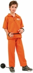 Child Boys Prison Jumpsuit Costume