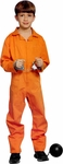 Child's Orange Prisoner Suit Costume