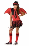 Preteen Gothic School Devil Costume