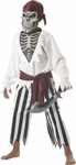 Child's Black And White Barnacle Bones Pirate Costume