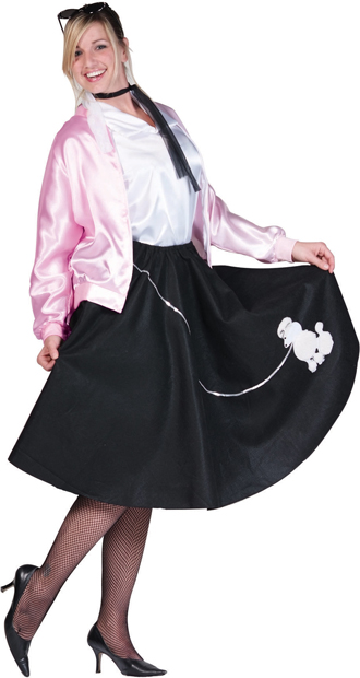 Women's Plus Size Pink Ladies Jacket Costume